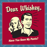 Dear Whiskey, Have You Seen My Pants Prints by  Retrospoofs