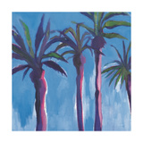 Palm Trees Morocco Crop with Pink Prints by Michael Clark