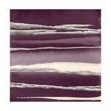 Silver Rose I Purple Prints by Chris Paschke
