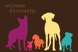 Diversity - Darker Version Plastikskilte af  Dog is Good