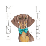 Puppy Love Dachshund Color Prints by Elyse DeNeige