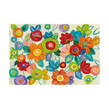 Decorative Flowers Bright Crop Print by Silvia Vassileva