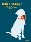 Things Happen - Blue Version Prints by  Dog is Good