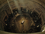 John F. Kennedy's Coffin Lies in State Beneath the Capitol's Dome Photographic Print by George F. Mobley