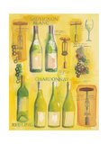 White Wine Collage Premium Giclee Print by Michael Clark