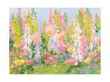 Garden Pastels I Blue Sky Prints by Shirley Novak