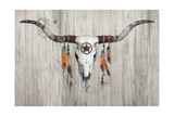 Longhorn on Wood Art by Avery Tillmon