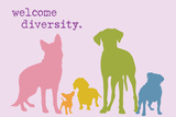 Diversity - Rainbow Version Plastic Sign by  Dog is Good
