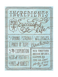 Ingredients for Life I Blue Posters by Mary Urban