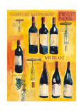 Red Wine Collage Premium Giclee Print by Michael Clark