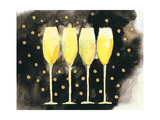 Bubbly Fun Black and Gold Premium Giclee Print by Michael Clark