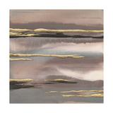 Gilded Morning Fog I Gold Art by Chris Paschke