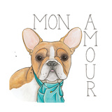 Puppy Love Frenchie Color Posters by Elyse DeNeige