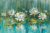 Water Lily Pond V2 Crop Art by Danhui Nai