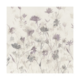 Garden Shadows III Purple Grey Print by Avery Tillmon