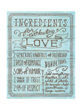 Ingredients for Life III Blue Poster by Mary Urban