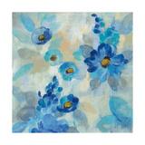 Blue Flowers Whisper III Prints by Silvia Vassileva