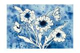Batik Flowers Crop Print by Shirley Novak