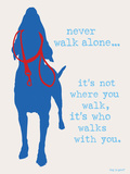Never Walk - Patriot Version Plastic Sign by  Dog is Good