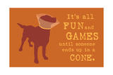 Fun And Games - Orange Version Prints by  Dog is Good