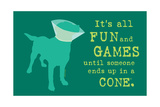 Fun And Games - Teal Version Posters by  Dog is Good