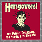 Hangovers! the Pain Is Temporary, the Stories Live Forever! Photo by  Retrospoofs