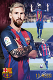 Barcelona Fcb- Messi Collage Poster