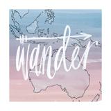 World Traveler Wander Poster by Sara Zieve Miller