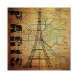 Paris Giclee Print by Bill Cannon