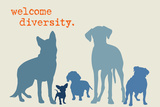 Diversity - Blue Version Plastic Sign by  Dog is Good