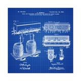 Schmidts Tap 1900 Blueprint Giclée-tryk af Bill Cannon