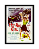 Hot Rod Girl Giclée-tryk