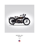 Harley Davidson Model WJ Sport Giclee Print by Mark Rogan