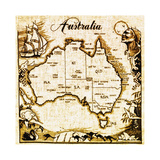 Australia Giclee Print by Bill Cannon