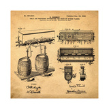 Schmidts Tap 1900 in Sepia Giclee Print by Bill Cannon