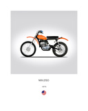 Harley Davidson MX 250 1975 Giclee Print by Mark Rogan