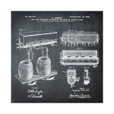 Schmidts Tap 1900 Chalk Giclee Print by Bill Cannon