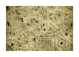 A night club map of Harlem Giclee Print by Bill Cannon