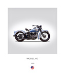 Harley Davidson Model VD 1935 Giclee Print by Mark Rogan