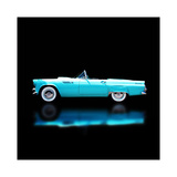 56 T-Bird Convertible Giclee Print by Clive Branson