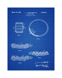 Whiskey Barrel Blueprint Giclee Print by Bill Cannon