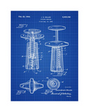 Corkscrew 1944 Blueprint Giclee Print by Bill Cannon