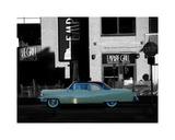 1955 Cadillac Coupe de Ville Giclée-tryk af Clive Branson