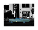 1955 Cadillac Coupe de Ville Giclee Print by Clive Branson