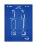 Beer Bottle 1934 Blueprint Giclée-tryk af Bill Cannon