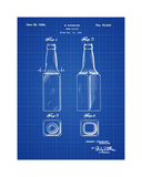 Beer Bottle 1934 Blueprint Giclee Print by Bill Cannon