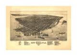 Key West, FL - 1884 Giclee Print by Bill Cannon