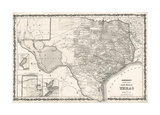 Map of Texas Giclée-tryk af Bill Cannon