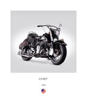 Indian Chief RoadMaster 1953 Giclee Print by Mark Rogan