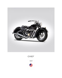 Indian Chief Type 347 1947 Giclee-vedos tekijänä Mark Rogan